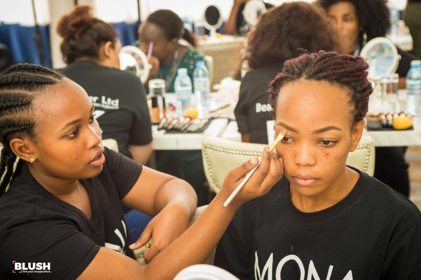 Makeup lovers party with Ciroc at Mona Faces Makeup class.