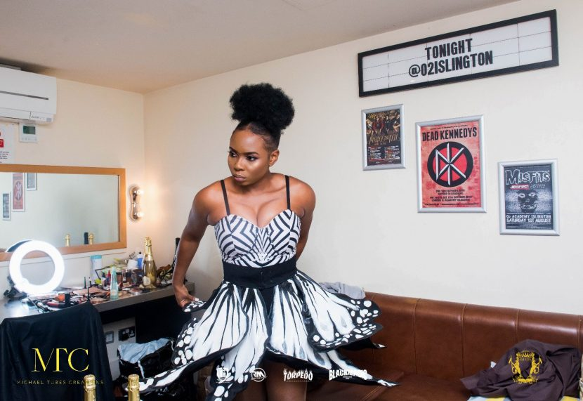 Yemi Alade Dressed By Kenyan Designer Kawira Mirero from Mambo Pambo Fashion House