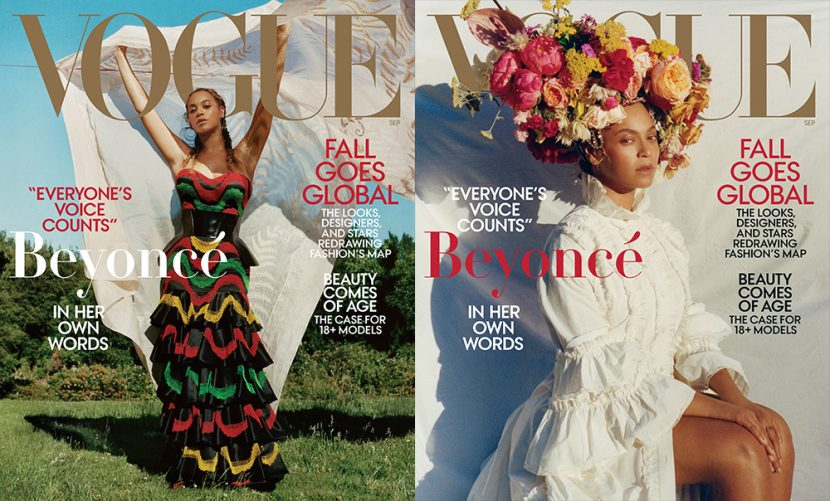 Beyoncé for the September issue of Vogue Magazine Cover