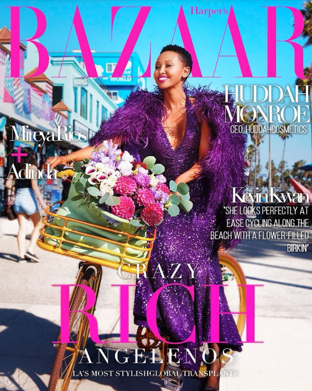 Kenyan Socialite Huddah Monroe excited after featuring on Harpers Bazaar US Magazine