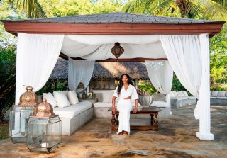 "Today Architectural Digest brings you to the coast of the Indian Ocean in @magicalkenya to visit supermodel @naomi Campbell at her luxurious, airy villa. Life as a fashion trailblazer and industry icon in constant demand for years necessitates a place to get away and unwind, and the tranquil seaside town of Malindi proved to be the perfect spot. ""It's a very calming place,"" says Campbell. ""You don't really want to be on the phone. You're not trying to find a television. You just want to read and be with yourself."" Select artwork by: Peter Beard Gian Paolo Tomasi Alexandra Spyratos 'Take Me to the River' Pure dyed silver leaf, copper leaf, glitter, acrylic on canvas 220x90cm Armando Tanzini Aluminum, wood, flip-flops, recycled materials, coral fossils Credit and Special Thanks Content Creator: @archdigest Model: @naomi Photo by @farahkhad styling by @edwardology words by @lolaogunnaike fashion styling by @mr_carlos_nazario Location: Malindi @magicalkenya"